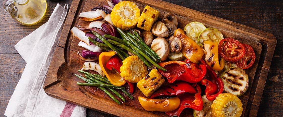 Rezeptideen für vegetarisches Grillen